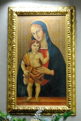 Cappella Aeroporto Roma, Capodanno 2016: Icona della Madonna con Gesù bambino - Foto di Sardegna Terra di Pace – Tutti i diritti riservati