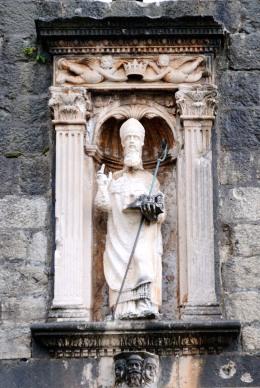 Dubrovnik, Capodanno 2016: statua di S. Biagio - Foto di Sardegna Terra di Pace – Tutti i diritti riservati