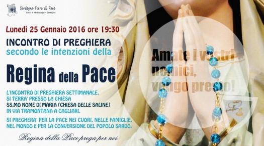 Locandina Incontro di Preghiera Settimanale del 25 Gennaio 2016