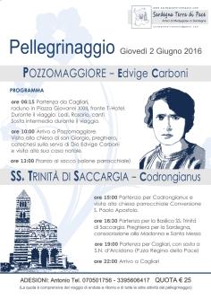 Locandina Pellegrinaggio in Sardegna 2016