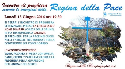 Locandina Incontro di Preghiera Settimanale del 13 Giugno 2016