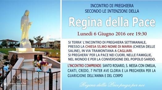 Locandina Incontro di Preghiera Settimanale del 6 Giugno 2016
