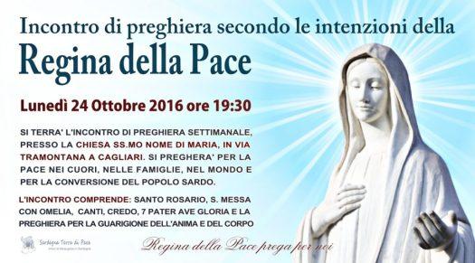 Locandina Incontro di Preghiera Settimanale del 24 Ottobre 2016