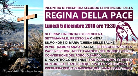 Locandina Incontro di Preghiera Settimanale del 5 Dicembre 2016
