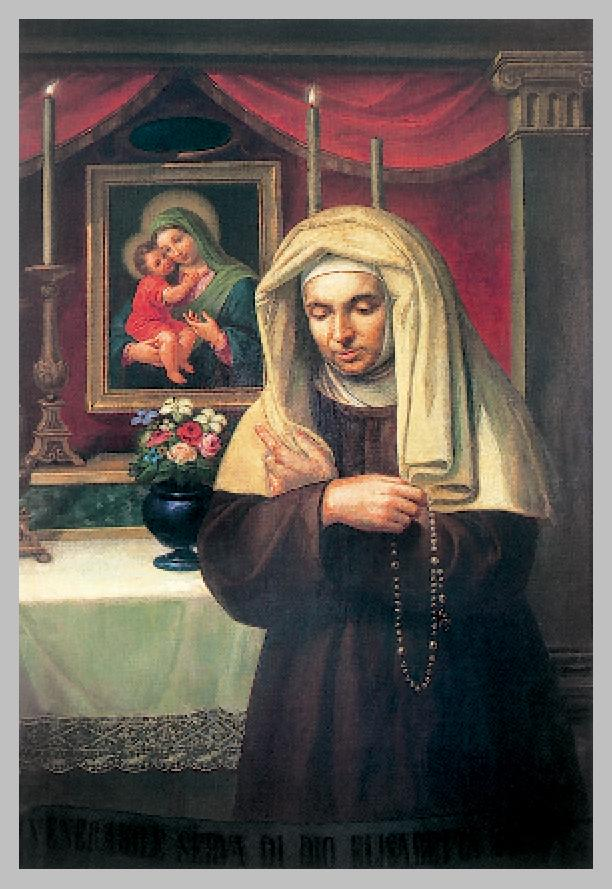 Immagine votiva di Elisabetta Sanna. Conservata presso la casa generalizia dei Padri Pallottini - Foto di RadLes