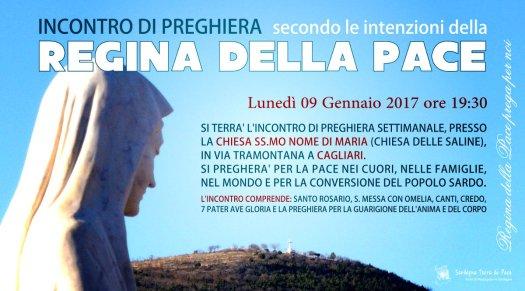 Locandina Incontro di Preghiera Settimanale del 09 Gennaio 2017