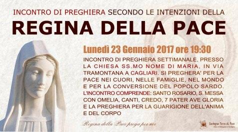 Locandina Incontro di Preghiera Settimanale del 23 Gennaio 2017