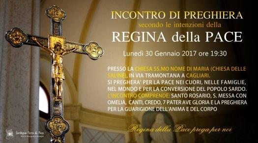 Locandina Incontro di Preghiera Settimanale del 30 Gennaio 2017