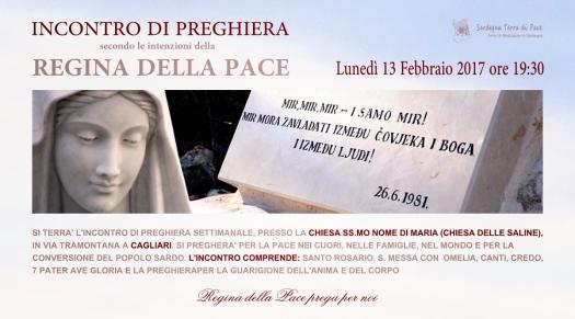 Locandina Incontro di Preghiera Settimanale del 13 Febbraio 2017