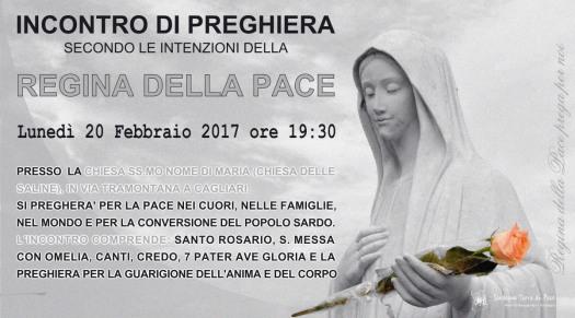 Locandina Incontro di Preghiera Settimanale del 20 Febbraio 2017
