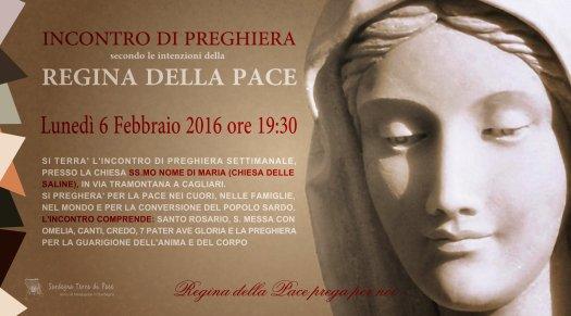 Locandina Incontro di Preghiera Settimanale del 6 Febbraio 2017