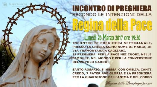Locandina Incontro di Preghiera Settimanale del 20 Marzo 2017