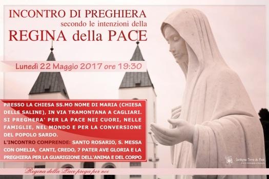 Locandina Incontro di Preghiera Settimanale del 22 maggio 2017