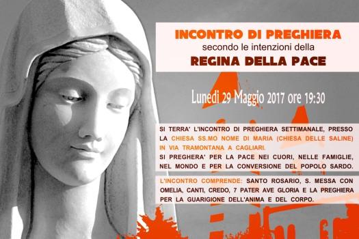 Locandina Incontro di Preghiera Settimanale del 29 Maggio 2017