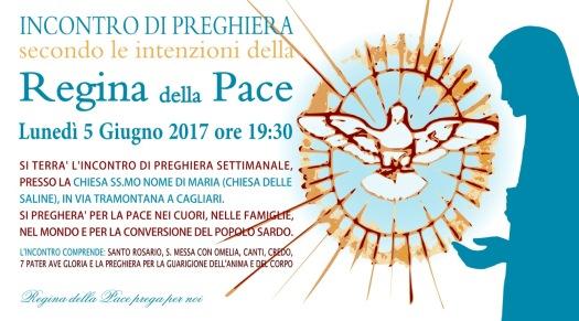 Locandina Incontro di Preghiera Settimanale del 5 Giugno 2017