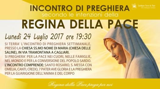 Locandina Incontro di Preghiera Settimanale del 24 Luglio 2017