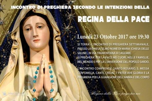 Locandina Incontro di Preghiera Settimanale del 23 Ottobre 2017