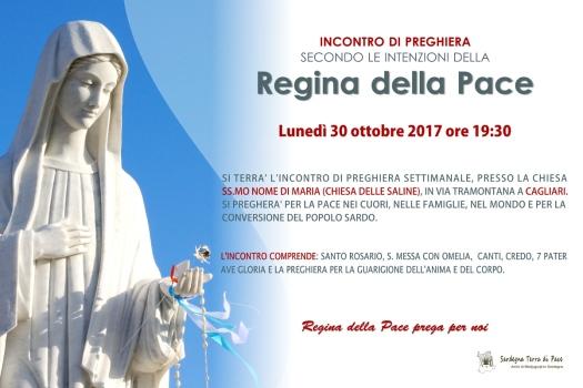 Locandina Incontro di Preghiera Settimanale del 30 Ottobre 2017