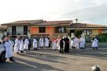 Accoglienza del Vescovo dal Sindaco e dalle Confraternite