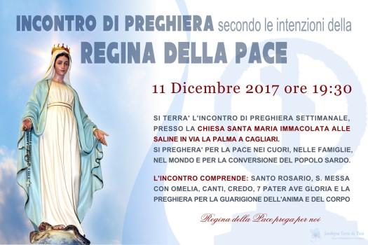 Locandina Incontro di Preghiera Settimanale del 11 dicembre 2017