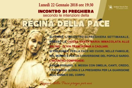 Locandina Incontro di Preghiera Settimanale del 22 Gennaio 2018