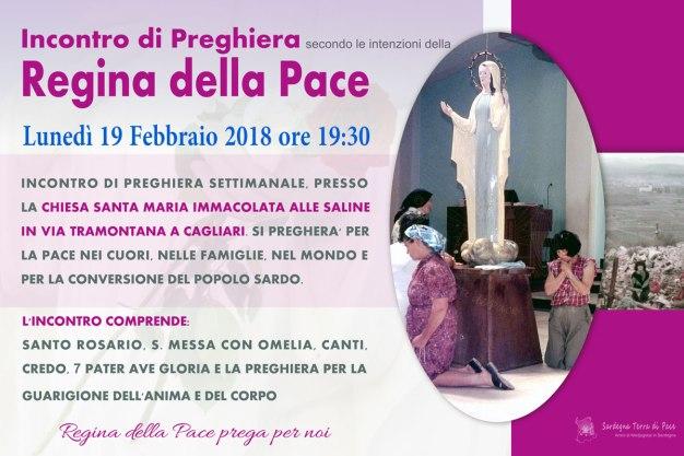 Locandina Incontro di Preghiera Settimanale del 19 Febbraio 2018