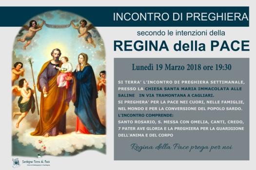 Locandina Incontro di Preghiera Settimanale del 19 Marzo 2018