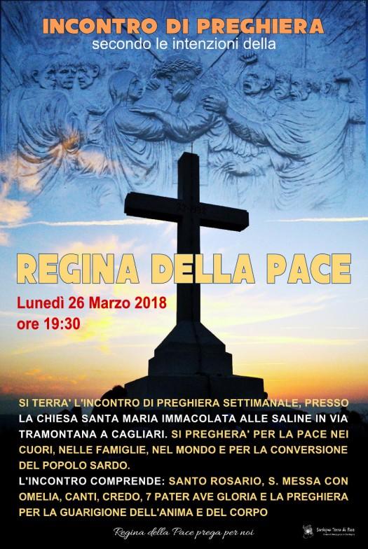 Locandina Incontro di Preghiera Settimanale del 26 Marzo 2018
