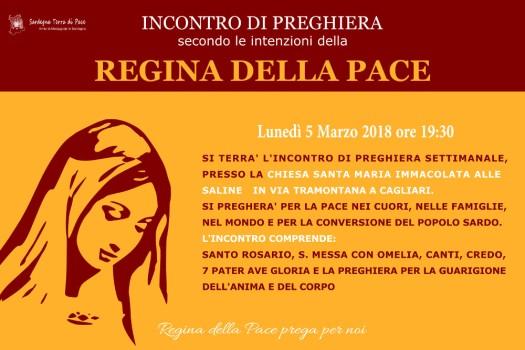 Locandina Incontro di Preghiera Settimanale del 5 Marzo 2018