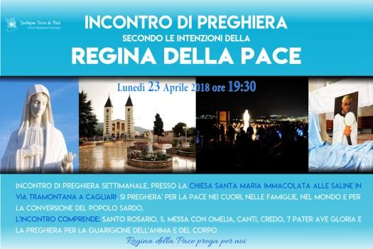 Locandina Incontro di Preghiera Settimanale del 23 Aprile 2018