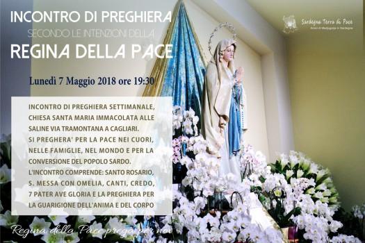 Locandina Incontro di Preghiera Settimanale del 7 Maggio 2018