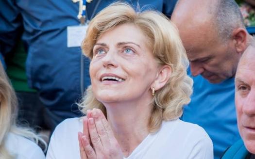 Medjugorje: Mirjana durante l'apparizione del 2 Giugno 2018 - Foto di Mateo Ivanković – Tutti i diritti riservati