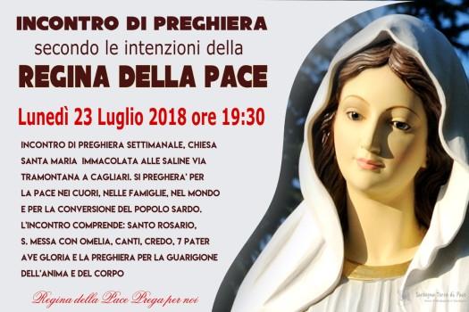 Locandina Incontro di Preghiera Settimanale del 23 Luglio 2018