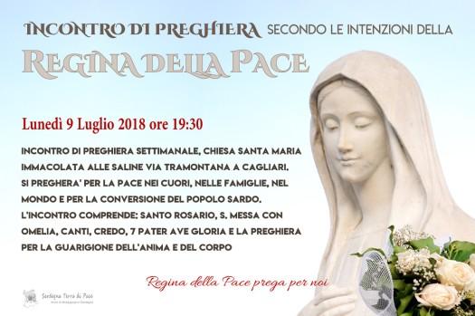 Locandina Incontro di Preghiera Settimanale del 9 Luglio 2018