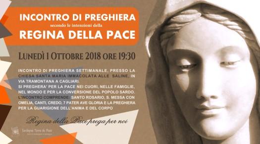 Locandina Incontro di Preghiera Settimanale del 1 Ottobre 2018 - Copia