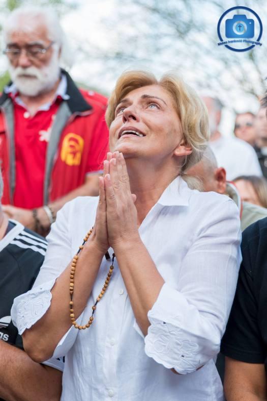 Medjugorje: Mirjana durante l'apparizione del 2 Settembre 2018 - Foto di Mateo Ivanković – Tutti i diritti riservati