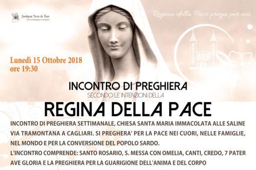 Locandina Incontro di Preghiera Settimanale del 15 Ottobre 2018