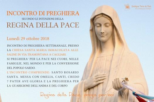 Locandina Incontro di Preghiera Settimanale del 29 ottobre 2018