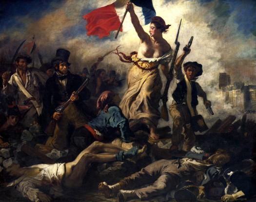 """""""La libertà guida il popolo"""", Eugène Delacroix, 1830"""