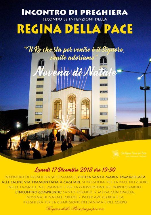Locandina Incontro di Preghiera Settimanale del 17 Dicembre 2018