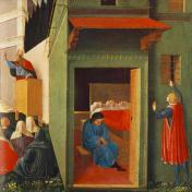 Predella della Pala di Perugia di Fra Angelico - Foto di JarektUploadBot - Pubblico Dominio