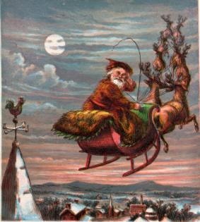 """Immagine comparsa nella edizione del 1869 di """"A Visit From Saint Nicholas"""" - Dominio Pubblico"""