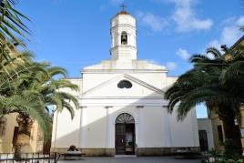 San Nicolò d'Arcidano: fronte chiesa di San Nicolò Vescovo – Foto di Sardegna Terra di Pace – Tutti i diritti riservati
