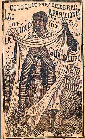 San Giovanni Diego mostra l'immagine della Vergine - Incisione di Jose Guadalupe Posada - Pubblico Dominio
