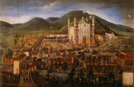 Inaugurazione della Basilica di Nostra Signora di Guadalupe - Opera di Manuel de Arellano - Pubblico Dominio