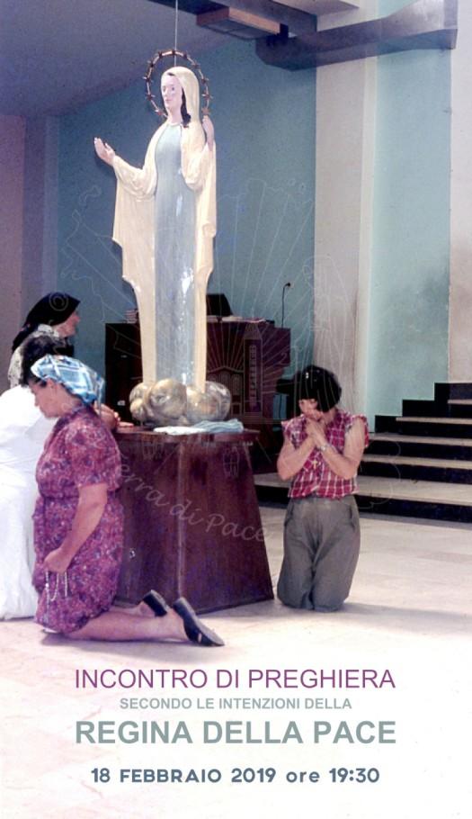 Locandina Ufficiale dell'Incontro di Preghiera ADMIS del 18 Febbraio 2019