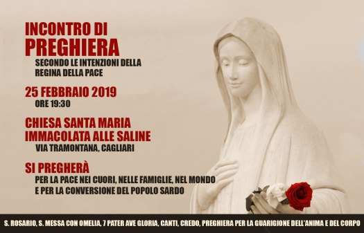 Locandina Ufficiale dell'Incontro di Preghiera ADMIS del 25 Febbraio 2019