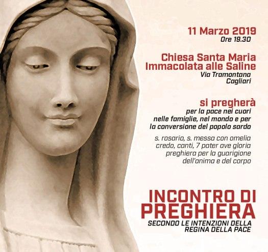 Locandina Ufficiale dell'Incontro di Preghiera ADMIS del 11 Marzo 2019