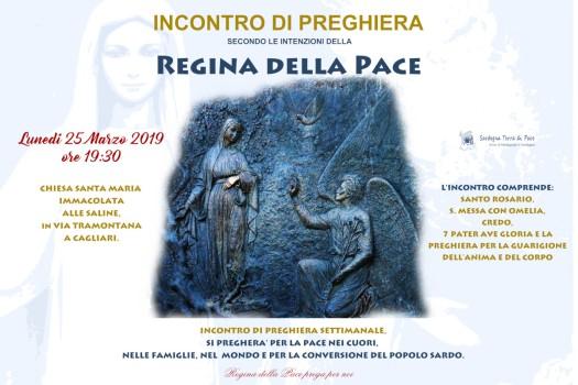 Locandina Incontro di Preghiera Settimanale del 25 Marzo 2019