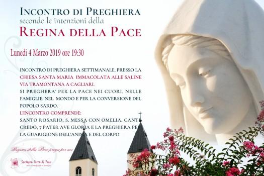 Locandina Incontro di Preghiera Settimanale del 4 Marzo 2019